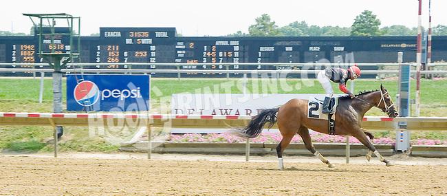Privatemarketvalue winning at Delaware Park on 7/16/12