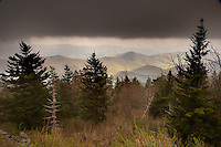 Spring view from Clingman's Dome, Great Smoky Mountains National Park, Tennessee