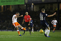Blackpool's Jay Spearing with a second half shot<br /> <br /> Photographer Rob Newell/CameraSport<br /> <br /> The EFL Sky Bet League One - Southend United v Blackpool - Saturday 17th November 2018 - Roots Hall - Southend<br /> <br /> World Copyright &copy; 2018 CameraSport. All rights reserved. 43 Linden Ave. Countesthorpe. Leicester. England. LE8 5PG - Tel: +44 (0) 116 277 4147 - admin@camerasport.com - www.camerasport.com