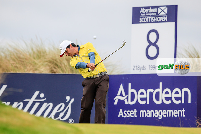 Felipe Aguilar (CHI) during round 3 of the Aberdeen Asset Management Scottish Open 2016, Castle Stuart  Golf links, Inverness, Scotland. 09/07/2016.<br /> Picture Fran Caffrey / Golffile.ie<br /> <br /> All photo usage must carry mandatory copyright credit (&copy; Golffile | Fran Caffrey)