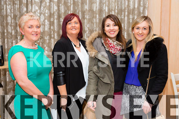 At the KFW Kerry Boutique & Kerry Designer Fashion Show in Ballygary House Hotel on Tuesday were Mary McAfee, Mags Brick, Claire Chauveg, Karen Blennerhassett