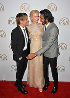 Nicole Kidman &amp; Keith Urban &amp; Dev Patel at the 2017 Producers Guild Awards at The Beverly Hilton Hotel, Beverly Hills, USA 28th January  2017<br /> Picture: Paul Smith/Featureflash/SilverHub 0208 004 5359 sales@silverhubmedia.com