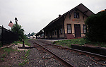 Railroad train station Connecticut, New England States, six-state region, Connecticut, Massachusetts, Rhode Island, thriving tourist industry, If you don't like the weather, wait ten minutes, Fine Art Photography by Ron Bennett, Fine Art, Fine Art photography, Art Photography, Copyright RonBennettPhotography.com ©