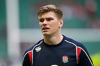 Owen Farrell of England warms up before the Cook Cup between England and Australia, part of the QBE International series, at Twickenham on Saturday 17th November 2012 (Photo by Rob Munro)