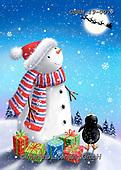 Roger, CHRISTMAS SANTA, SNOWMAN, WEIHNACHTSMÄNNER, SCHNEEMÄNNER, PAPÁ NOEL, MUÑECOS DE NIEVE, paintings+++++,GBRM19-0079,#x#
