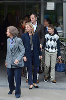 Queen Sofia of Spain, Princess Elena, Inaki Urdangarin, Princess Cristina and Juan Pablo Urdangarin visit King Juan Carlos of Spain at Quiron Hospital in Madrid. November 25 , 2012. (ALTERPHOTOS/Caro Marin) /NortePhoto