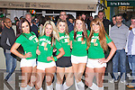 BEAUTY: Plenty of support from Lyndsey Kelly, Stephanie Horgan, Rachel Lynch, Danieik Healy and Claire O'Brien as Ireland play Croita in the first game on the the big screen in The Square Tralee on Sunday evening.....