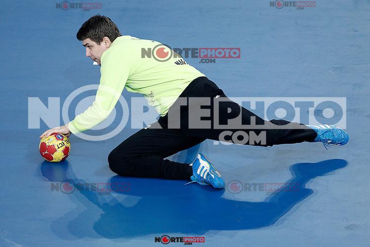 Hungary's Peter Tatai during 23rd Men's Handball World Championship preliminary round match Hungary v Spain.January 17,2013. (ALTERPHOTOS/Acero)