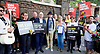 Amnesty International UK<br /> CHECHNYA: STOP ABDUCTING AND KILLING GAY MEN<br /> protest at the Russian Embassy, London, Great Britain <br /> 2nd June 2017 <br /> <br /> Over a hundred men suspected of being gay have been abducted, tortured and some even killed in the southern Russian republic of Chechnya.<br /> <br /> The Chechen government won&rsquo;t admit that gay men even exist in Chechnya, let alone that they ordered what the police call 'preventive mopping up' of people they deem undesirable. We urgently need your help to call out the Chechen government on the persecution of people who are, as they put it, of 'non-traditional orientation', and urge immediate action to ensure their safety.<br /> <br /> Photograph by Elliott Franks <br /> Image licensed to Elliott Franks Photography Services