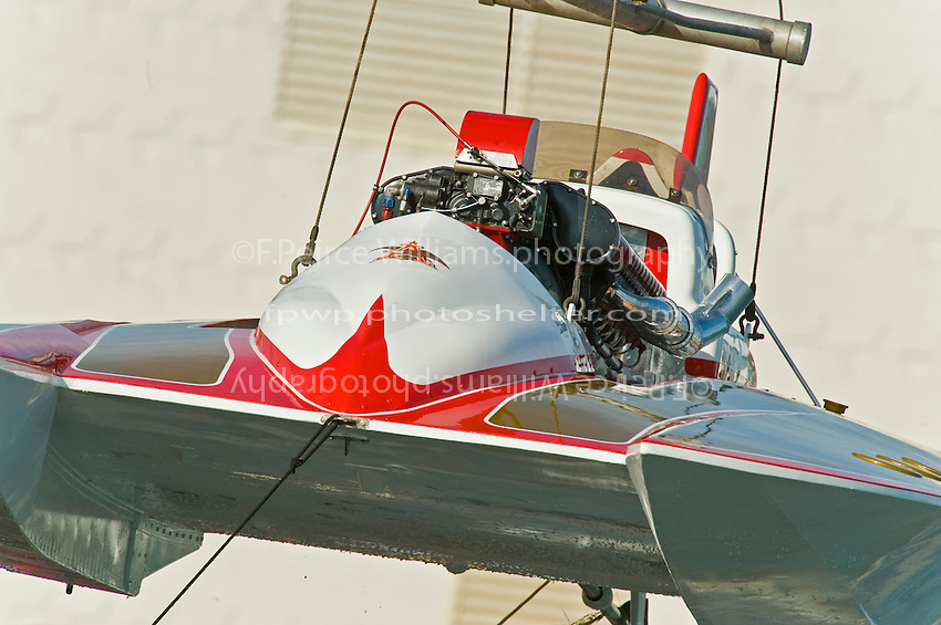 "13 July 2008  APBA Gold Cup.U-12 ""Miss Budweiser"" Unlimited Hydroplane (built as the Tempus).©2008 F.Peirce Williams."