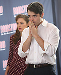 Laura Osnes and Corey Cott perform during the 'Bandstand' Broadway cast press presentation at the Rainbow Room on March 7, 2017 in New York City.
