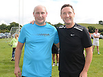 Johnny Levins and Former Louth manager Peter Fitzpatrick who ran Tiaran's 5K run at Hunterstown. Photo:Colin Bell/pressphotos.ie
