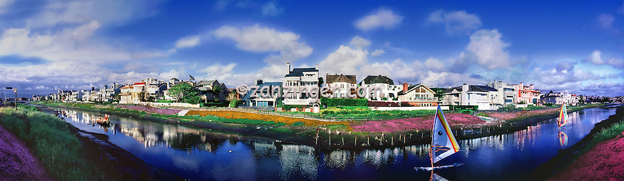 Marina Del Rey, CA, Peninsula, Grand Canal, Luxury, Affluent, Los Angeles, CA, Luxury, Affluent, Houses, Homes, neighborhood,  Los Angeles, California CGI Backgrounds, High dynamic range imaging (HDRI or HDR) ,Beautiful Background