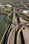 Aerial View of Eastside Esplanade, Portland, Oregon