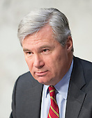 United States Senator Sheldon Whitehouse (Democrat of Rhode Island) questions witnesses during the second day of the U.S. Senate Committee on the Judiciary hearing on the confirmation of Loretta Lynch, United States Attorney For The Eastern District Of New York, U.S. Department of Justice, Brooklyn, NY as U.S. Attorney General on Capitol Hill in Washington, D.C. on Thursday, January 29, 2015. <br /> Credit: Ron Sachs / CNP