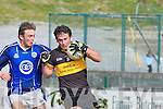 Giles O'Grady Kerins O'Rahillys tackles Ambrose O'Donovan Dr Crokes in the Divison 1 league final in Killarney on Sunday