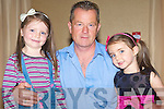 YOUNG MODELS: Lilly and Molly O'Brien with their dad Johnny at the Fashion Show in aid of the Cancer Society and Recovery Haven at the Carlton hotel on Sunday.