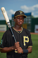 Bristol Pirates Victor Ngoepe (5) poses for a photo before a game against the Elizabethton Twins on July 29, 2018 at Joe O'Brien Field in Elizabethton, Tennessee.  Bristol defeated Elizabethton 7-4.  (Mike Janes/Four Seam Images)