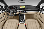 Stock photo of straight dashboard view of 2018 Audi A5 Design 2 Door Convertible Dashboard