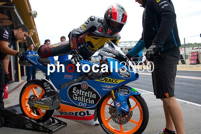 FIM CEV REPSOL Comunitat Valenciana during the moto spanish championship in Cheste, Valencia<br /> FP Moto3<br /> jorge navarro<br /> PHOTOCALL3000