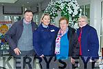 Jerry Kelleher, Garda Sharon Maybury, Eileen MAyse and Sheila Morris at the Garda meet and greet in the Killarney Heights Hotel on Friday