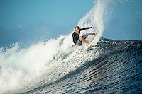 Namotu Island Resort, Fiji. Thursday March 26 2015) Zack Haynes (AUS) surfing Cloudbreak. - The surf was in the 3'-4' range this morning with  clear skies and light SE Trade winds. The  guests had sessions at Namotu Lefts, and Cloudbreak. Today's surf is the best it's been all week.Photo: joliphotos.com