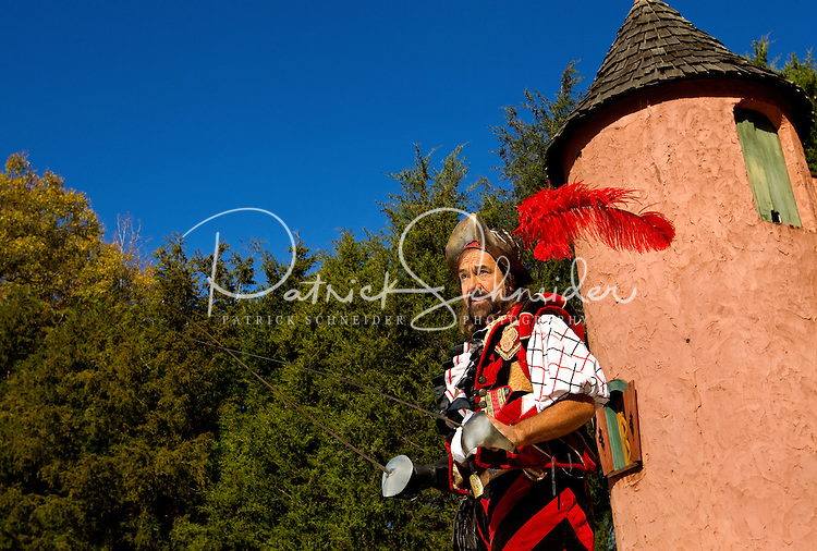 A performer at the annual Carolina Renaissance Festival in November 2011. The annual Renaissance Festival and Fair takes place each October and November in Huntersville, NC, near Charlotte, NC.