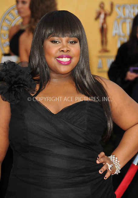 WWW.ACEPIXS.COM . . . . . ....January 30 2011, Los Angeles....Actress Amber Riley arriving at the 17th Annual Screen Actors Guild Awards held at The Shrine Auditorium on January 30, 2011 in Los Angeles, CA....Please byline: PETER WEST - ACEPIXS.COM....Ace Pictures, Inc:  ..(212) 243-8787 or (646) 679 0430..e-mail: picturedesk@acepixs.com..web: http://www.acepixs.com