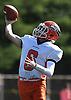 Jason Kessler #6, Carey quarterback, throws a pass for a touchdown during a Nassau County Conference II varsity football game against host Garden City High School on Saturday, Sept. 29, 2018. Garden City won by a score of 38-14.