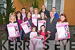 The press launch of the fashion show in aid of the Paul Curran Trust Fund and the Kerry Hospice. Pictured Friday evening were, back row, left to right: Bernie Canty, Ciara Smith, Dave Smith, Gillian Warton, Tony Curran, Catherine Curran, Roisin Curran, Kieran Donaghy, Ogie Moran, Declan Quill and Orla Diffly .Front row: Mia and Ciara Smith. The fashion will take place at the Meadowlands hotel on Friday the 30th of March. Tickets are 15 and are available from Catherine on 087 682006, from the Meadowlands hotel and participating shops.