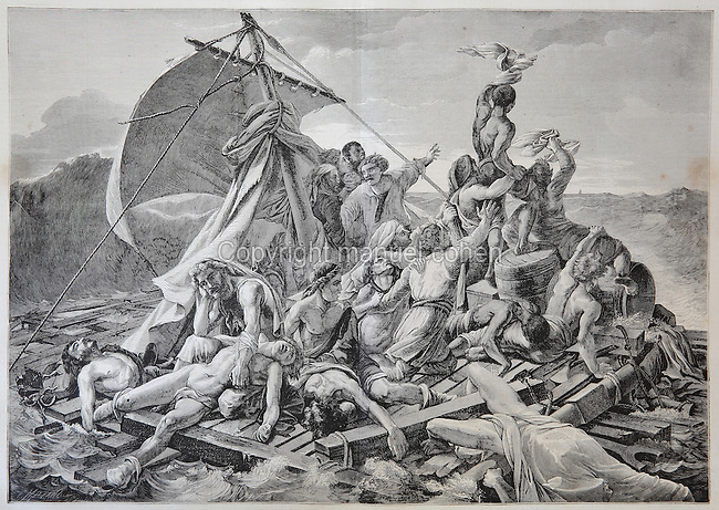a brief history of theodore gericaults raft of the medusa painting The raft of the medusa is an oil painting of 1818–1819 by the french romantic painter and lithographer théodore géricault (1791–1824) completed when the artist was 27, the work has become an icon of french romanticism at 491 cm × 716 cm (16' 1 × 23' 6), it is an over-life-size painting that depicts a moment from.