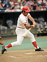 CIRCA 1973:  Johnny Bench #5, of the Cincinnati Reds, at bat during  a game from his 1973 season.  Johnny Bench played for 17 seasons, all with the Cincinnati Reds. Johnny Bench was a 14 -time All-Star, 2-time National League MVP and was inducted to the Baseball Hall of Fame in 1989. (Photo by: 1973  SportPics  )  Johnny Bench