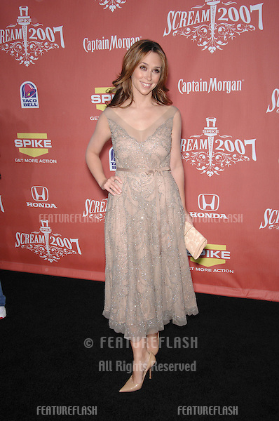 "Jennifer Love Hewitt at Spike TV's ""Scream 2007"" Awards honoring the best in horror, sci-fi, fantasy & comic genres, at the Greak Theatre, Hollywood..October 20, 2007  Los Angeles, CA.Picture: Paul Smith / Featureflash"