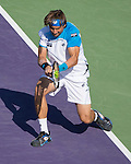 David Ferrer (ESP) defeats Jurgen Meltzer, 4-6, 6-4, 6-0, at the Sony Open being played at Tennis Center at Crandon Park in Miami, Key Biscayne, Florida on March 27, 2013