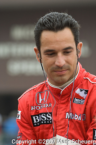 5 August 2007: Helio Castroneves (BRA) at the Firestone Indy 400, Michigan International Speedway, Brooklyn, Michigan