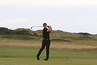 Lewys Sanges from Wales at the 18th tee during Round 2 Singles of the Men's Home Internationals 2018 at Conwy Golf Club, Conwy, Wales on Thursday 13th September 2018.<br /> Picture: Thos Caffrey / Golffile<br /> <br /> All photo usage must carry mandatory copyright credit (&copy; Golffile | Thos Caffrey)