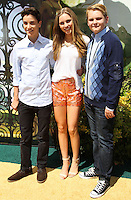 "WESTWOOD, LOS ANGELES, CA, USA - MAY 03: Teo Halm, Ella Wahlestedt, Reese C. Hartwig at the Los Angeles Premiere Of ""Legends Of Oz: Dorthy's Return"" held at the Regency Village Theatre on May 3, 2014 in Westwood, Los Angeles, California, United States. (Photo by Celebrity Monitor)"