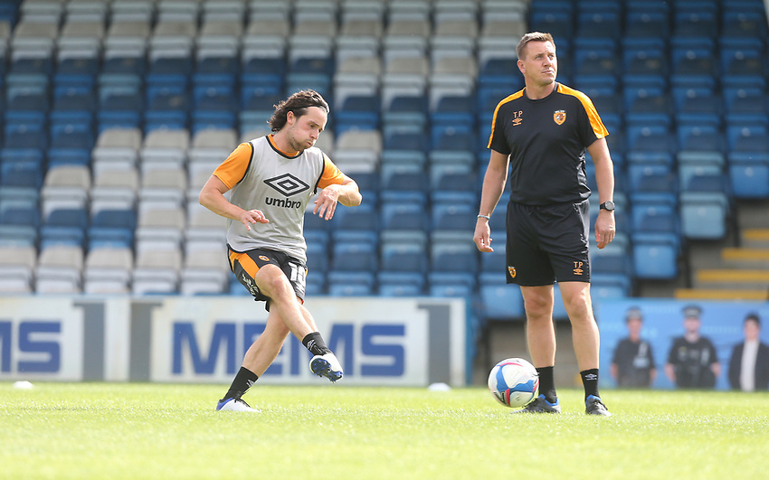 Hull City's George Honeyman during the warm-up<br /> <br /> Photographer Rob Newell/CameraSport<br /> <br /> The EFL Sky Bet League One - Gillingham v Hull City - Saturday September 12th 2020 - Priestfield Stadium - Gillingham<br /> <br /> World Copyright © 2020 CameraSport. All rights reserved. 43 Linden Ave. Countesthorpe. Leicester. England. LE8 5PG - Tel: +44 (0) 116 277 4147 - admin@camerasport.com - www.camerasport.com