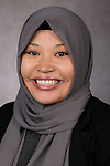 Putri Kusumo, Department Assistant , Department of Finance, DePaul University, is pictured in a studio portrait Tuesday, September 13, 2016. (DePaul University/Jeff Carrion)