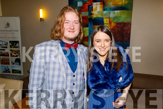 Alex Ryan and  Sophie O'Brien attending the Gaelcoláiste Chiarraí debs in the Ballyroe Heights Hotel on Thursday night