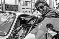 Mario Andretti and Michael Andretti, Budweiser Grand Prix of Miami, Bicentennial Park, Miami, FL, February 27, 1983(Photo by Brian Cleary/bcpix.com)