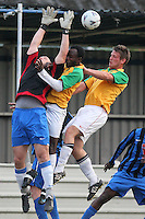 Lapton (blue/black) vs Bancroft United (yellow/white) - Hackney & Leyton League Dickie Davies Cup Final at Waltham Forest FC - 29/04/11 - MANDATORY CREDIT: Gavin Ellis/TGSPHOTO - Self billing applies where appropriate - Tel: 0845 094 6026