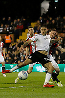 GOAL - Aleksandar Mitrovic of Fulham FC opens the scoring during the Sky Bet Championship match between Fulham and Sheff United at Craven Cottage, London, England on 6 March 2018. Photo by Carlton Myrie.