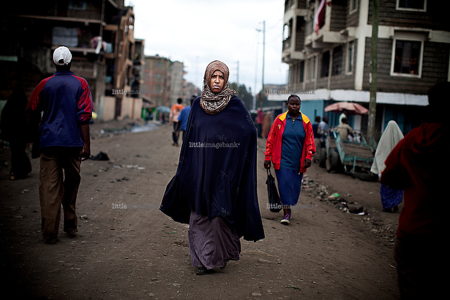 Nairobi, Kenya, 22.10.2010. The kenyan capital of Nairobi has long been a destination for somali refugees fleeing the fighting betwen African Union troops (AU) and Al-Shabab fighters. Most of the refugees end up living in a suburb of Nairobi by the name of Eastleigh. Photo: Christopher Olssøn.