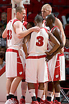 MADISON, WI - OCTOBER 24: The Wisconsin Badgers white team huddles during the red/white scrimmage at the Kohl Center on October 24, 2006 in Madison, Wisconsin. The White team defeated the Red team 72-69. (Photo by David Stluka)
