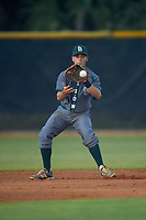 Saint Leo Lions shortstop Derek Gibree (4) during a game against the Northwestern Wildcats on March 4, 2016 at North Charlotte Regional Park in Port Charlotte, Florida.  Saint Leo defeated Northwestern 5-3.  (Mike Janes/Four Seam Images)