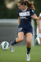 Sky Blue FC midfielder Katy Freels (Frierson) (17). Sky Blue FC defeated the Washington Spirit 1-0 during a National Women's Soccer League (NWSL) match at Yurcak Field in Piscataway, NJ, on August 3, 2013.