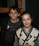 Isabella Convertino (daughter of Liz Keifer & Bobby) poses with her brother Keifer who is in the play 7 Samurai - December 7 - December 19, 2009 at the Phillipstown Depot Theatre, Garrison, New York. (Photo by Sue Coflin/Max Photos