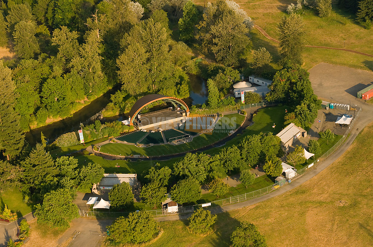Aerial View of The Cuthbert Amphitheater, Eugene, Oregon
