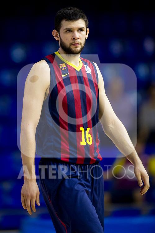FC Barcelona's Kostas Papanikolaou during Liga Endesa ACB 2013-2014 match against Gipuzkoa Basket Club. November 3, 2013. (ALTERPHOTOS/Alex Caparros)